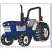 Nimeline pidžaamakott / sussikott Sinine Traktor