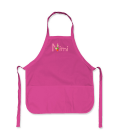 Laste käsitööpõll roosa nimeline (S) 52x62cm taskutega