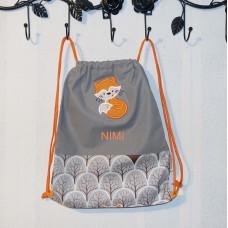 Nimeline pidžaamakott / sussikott seljakott Rebane