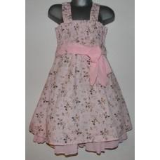 Heleroosa kleit tüdrukutele. 2/3 ja 3/4 suurused.