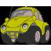 Nimeline pidžaamakott / sussikott Kollane Auto