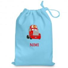 Nimeline pidžaamakott / sussikott Punane veoauto