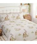 Laste voodipesukomplekt jänestega 135x200cm