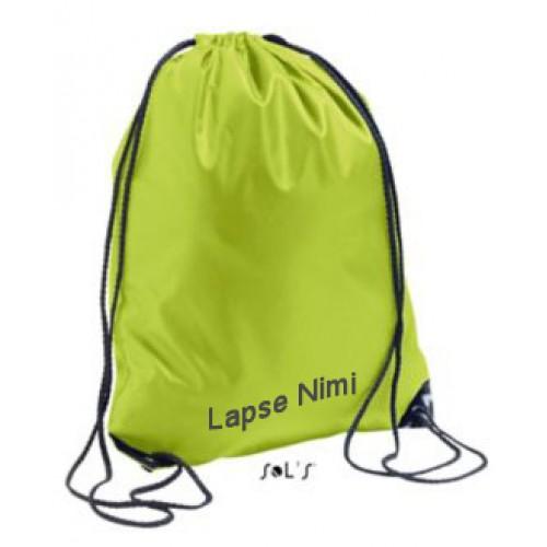 GREEN DRAWSTRING BAGS