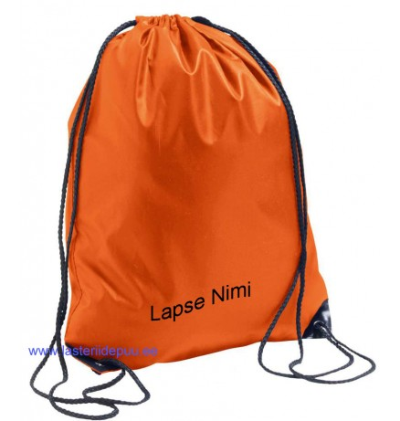 ORANGE DRAWSTRING BAG