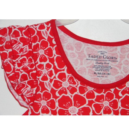 FadedGlory punaselilleline pluus
