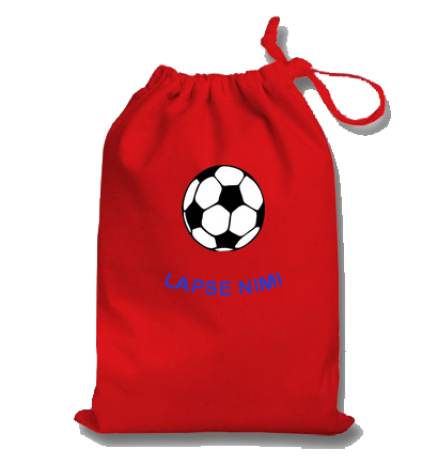 Lapse nimega tuduriiete kott / sussikott football