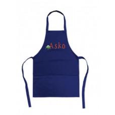 Laste käsitööpõll sinine nimeline (S) 45x65cm taskutega