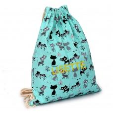 Nimeline tikandiga seljakott