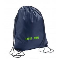 Tumesinine seljakott / spordikott lapse nimega